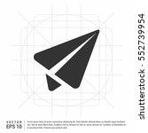 vector send icon   | Shutterstock .eps vector #552739954