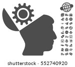 open head gear icon with free... | Shutterstock .eps vector #552740920