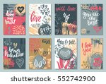 collection of romantic and love ... | Shutterstock .eps vector #552742900