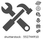 hammer and wrench icon with... | Shutterstock .eps vector #552744910