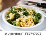 pasta with broccoli | Shutterstock . vector #552747073