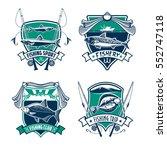 fishing sport club heraldic... | Shutterstock .eps vector #552747118
