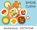 british cuisine main dishes...   Shutterstock .eps vector #552747148
