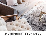 contemporary interior of living ... | Shutterstock . vector #552747586