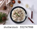 Plate With Delicious Mushrooms...