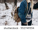 stylish hipster travel look of... | Shutterstock . vector #552749554