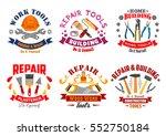 repair tool and building...   Shutterstock .eps vector #552750184