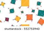 color kites seamless pattern | Shutterstock .eps vector #552753940