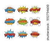 cartoon sound effect   Shutterstock .eps vector #552754600