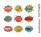 cartoon sound effect | Shutterstock .eps vector #552754804
