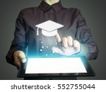 image of a girl with a tablet... | Shutterstock . vector #552755044