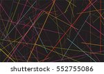 abstract random lines... | Shutterstock .eps vector #552755086