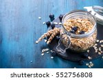 granola  cereals or rolled oats ... | Shutterstock . vector #552756808