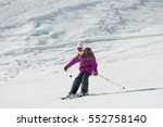 Child On Skis Goes From...