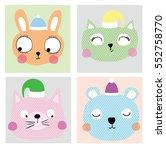 cute animals | Shutterstock .eps vector #552758770