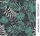tropical background with palm... | Shutterstock .eps vector #552761914