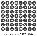 music icons | Shutterstock .eps vector #552763144