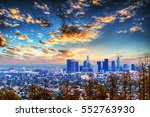 clouds over l.a. at sunset ... | Shutterstock . vector #552763930