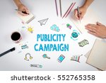 publicity campaign. the meeting ... | Shutterstock . vector #552765358