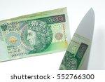 100 zloty cut | Shutterstock . vector #552766300