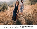 beautiful girl with her friend... | Shutterstock . vector #552767893
