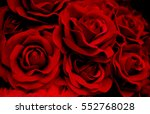 Bouquet Red Artificial Roses O...