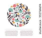 vector hand drawn style floral... | Shutterstock .eps vector #552768694