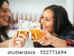 close up of cheering glasses...   Shutterstock . vector #552771694