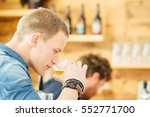 side view of handsome blond man ... | Shutterstock . vector #552771700