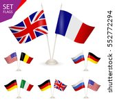 set   table stand with flags.... | Shutterstock .eps vector #552772294