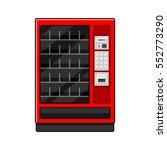 red vending machine on white... | Shutterstock .eps vector #552773290