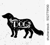 dog. hand drawn typography... | Shutterstock .eps vector #552775930