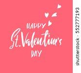 vector happy valentines day... | Shutterstock .eps vector #552777193