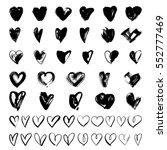 vector doodle hand drawn grunge ... | Shutterstock .eps vector #552777469