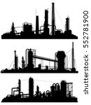 set of silhouettes of... | Shutterstock .eps vector #552781900