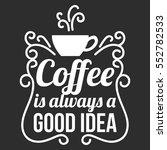 coffee addict illustration ... | Shutterstock .eps vector #552782533