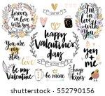 valentine s day callygraphic... | Shutterstock .eps vector #552790156