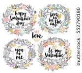 valentine s day callygraphic... | Shutterstock .eps vector #552790180