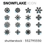 vector flat snowflake icons set ... | Shutterstock .eps vector #552795550
