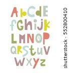 english alphabet. abc.... | Shutterstock .eps vector #552800410