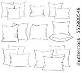 textile cushion bedroom pillow... | Shutterstock .eps vector #552800548