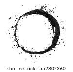 vector oil black splash circle | Shutterstock .eps vector #552802360