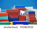 port cargo container in port of ... | Shutterstock . vector #552803920