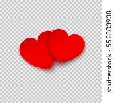 paper stickers in heart shape...   Shutterstock .eps vector #552803938
