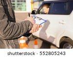 instructor in driving school... | Shutterstock . vector #552805243