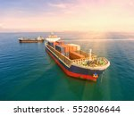 container container ship in... | Shutterstock . vector #552806644