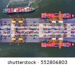 container ship in import export ...   Shutterstock . vector #552806803
