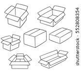 vector set of box | Shutterstock .eps vector #552808354