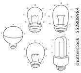 vector set of light bulb | Shutterstock .eps vector #552808984