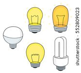 vector set of light bulb   Shutterstock .eps vector #552809023